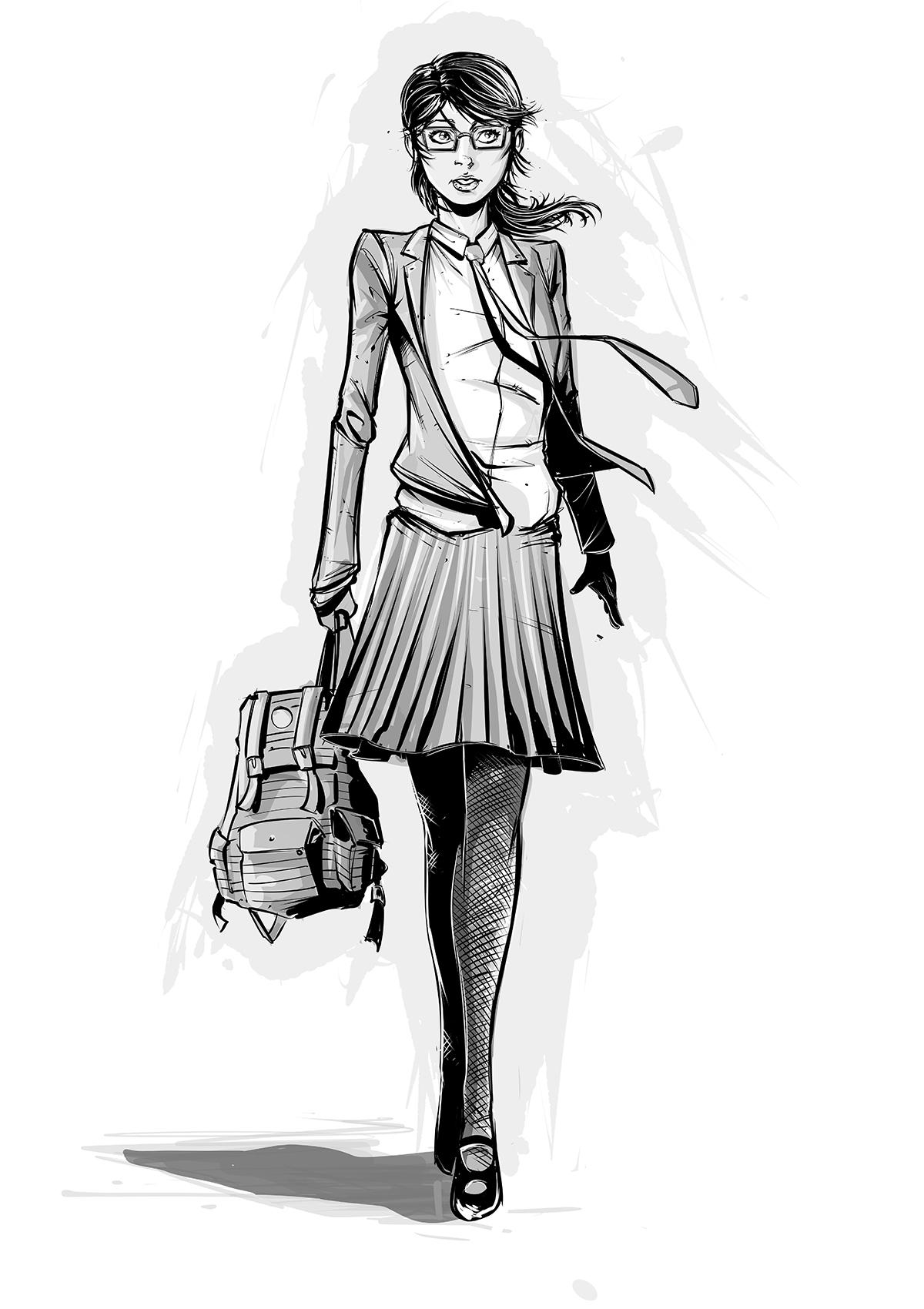 Amrit Birdi Illustrator on Joe Sugg's Username:Evie