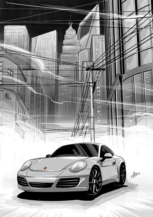 Porsche China concept art