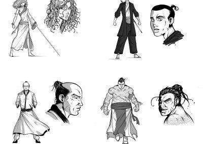Sakura Character designs