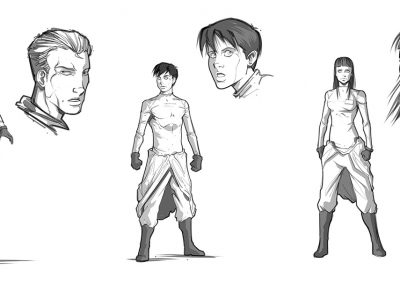 Gone to Earth Character designs