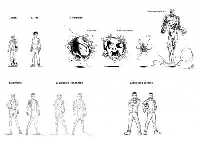 F2: Galaxy of Football character designs