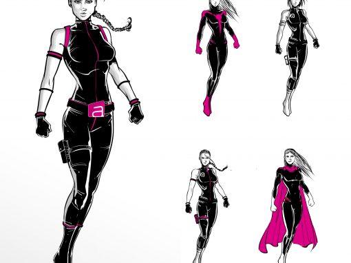 Aloft London superhero design