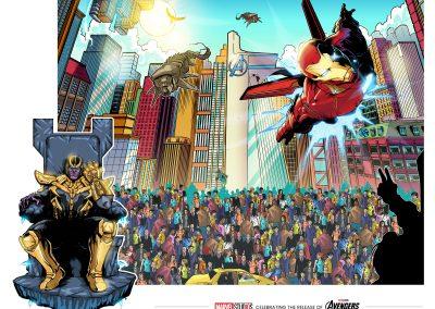 Marvel 10 year Avengers: Infinity War Mural